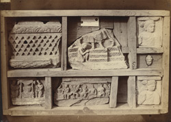 Buddhist sculpture fragments from Jao, Sanghao, Peshawar District.